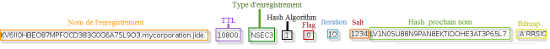 Structure d'un enregistrement NSEC3