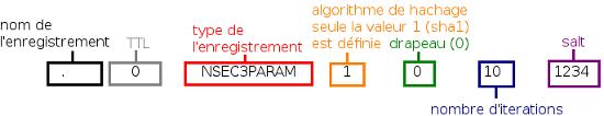 Structure d'un enregistrement NSEC3PARAM